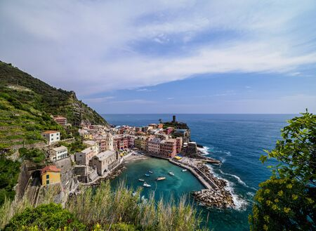 Vernazza Village, elevated view, Cinque Terre