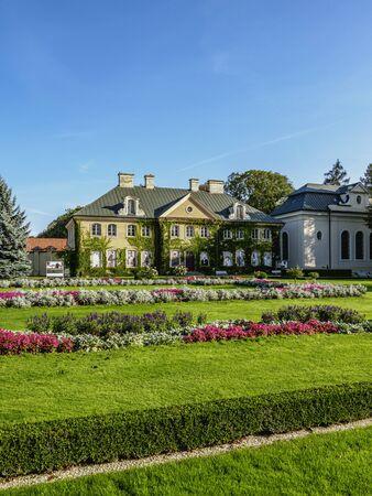 Gardens of Zamoyski Palace in Kozlowka, Lublin Voivodeship, Poland