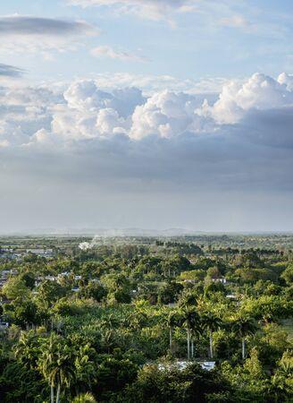 Landscape seen from Loma del Capiro, Santa Clara, Villa Clara Province, Cuba
