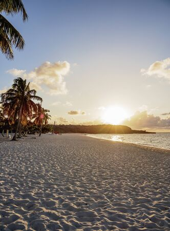 Playa Esmeralda at sunset, Holguin Province, Cuba 写真素材 - 145548197