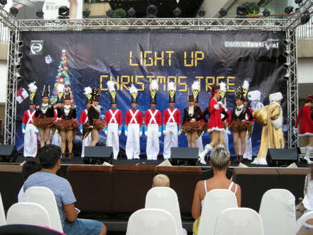 Christmas pageant actors, All dressed up to perform in a Christmas pageant here in Pattaya, Thailand, a predominantly Buddhist country