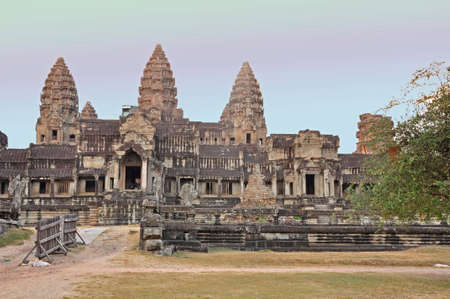 Angkor Wat. One of many temples in the vast Angkor complex, centuries old, here in Cambodia