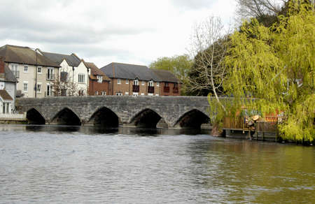 Bridge over the Avon, Ringwood, Hampshire. The Southern entrance to the town of Ringwood, Hampshire, England