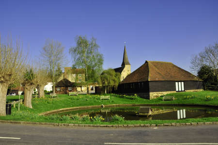 Wisborough Village Green & pond, E, Sussex. A typical country village, with pond and green field, in rural Southern England Reklamní fotografie