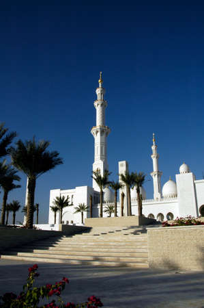 Sheikh Zayed Al Nayhan Mosque. The largest Mosque in the area and a monument to the late Ruler of the UAE Archivio Fotografico