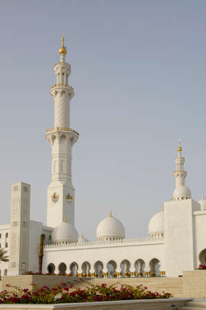 Sheikh Zayed Al Nayhan Mosque. The largest Mosque in the area and a monument to the late Ruler of the UAE Stock Photo