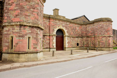 An old prison, no longer in use, photographed here in South Wales, Great Britain