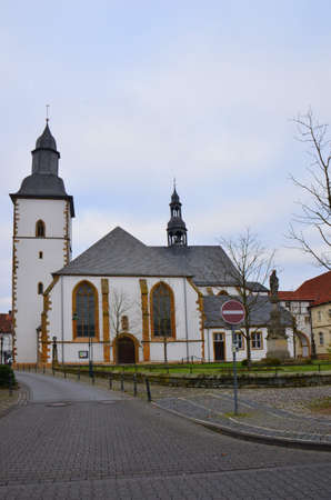 Religious building architecture can be seen all around the towns and countryside of Westphalia, Germany