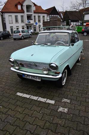 Classic German Opel Kadet motor car, in really good condition and still running Редакционное