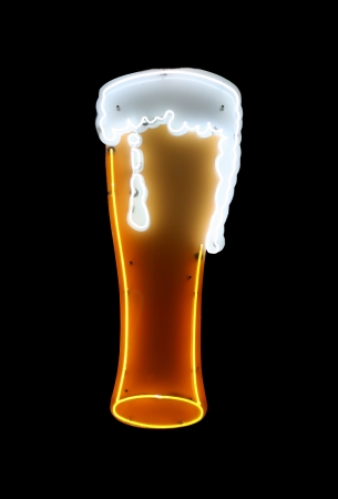Beer Neon Sign Isolated