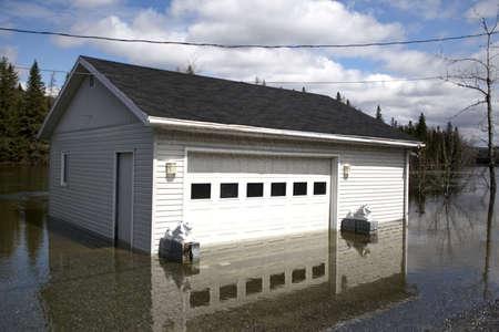 act of god: Flooded Garage Stock Photo