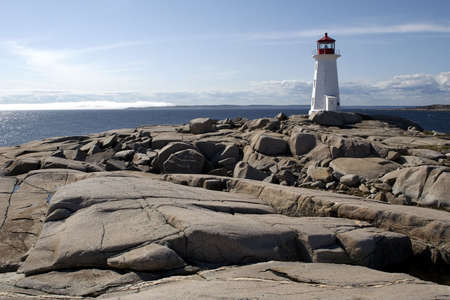 scotia: Peggys Cove Lighthouse Stock Photo