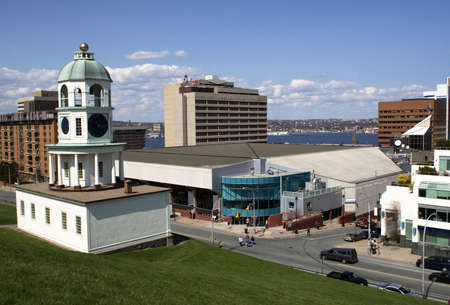 stronghold: Halifax Citadel Clock Tower Stock Photo