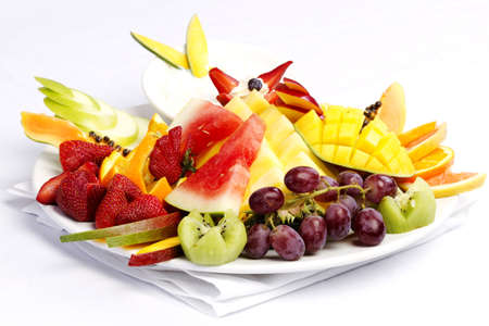 professionally: Platter of a assorted fresh fruit cut professionally