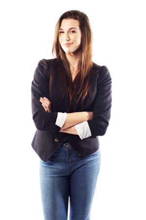 Portrait of beautiful young woman wearing blazer Stock Photo - 15599447