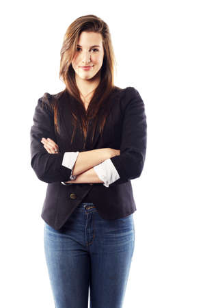 Portrait of beautiful young woman wearing blazer Stock Photo - 15599450