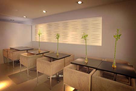 Fine dining sushi restaurant interior, Laval, Quebec, Canada photo