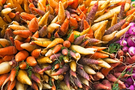 Multi Coloured Root Vegetables