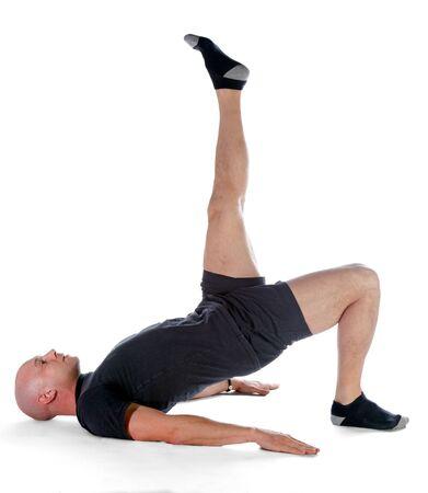 nucleo: Pilates - Hombro Puente Foto de archivo