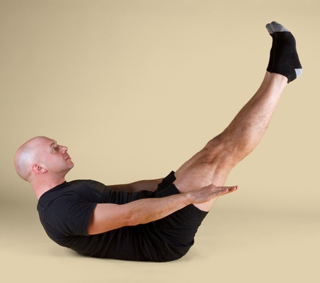 fluidity: Pilates Position - the Hundred Stock Photo