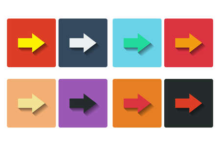 Flat design arrows icons. Isolated on white background. photo