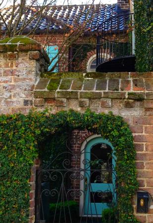 in charleston: Charleston Garden Walk Stock Photo