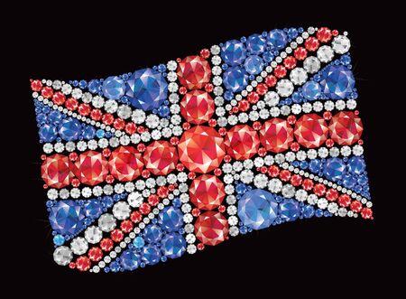 British Flag of diamonds Stock Vector - 17871257