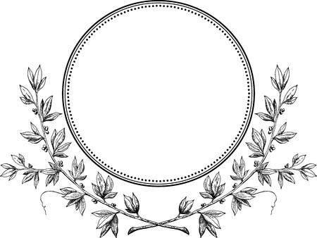 crown silhouette: Reale corona di alloro vettore Vettoriali