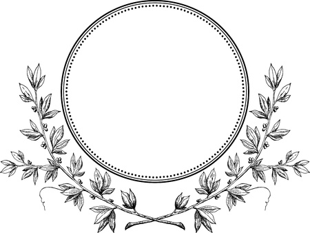 laurel leaf: Royal laurel wreath vector  Illustration