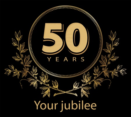 50 years jubilee: Jubilee, golden laurel wreath 50 years