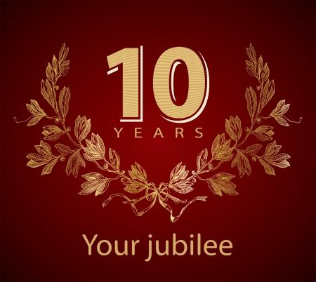 numero diez: Jubileo de oro corona de laurel 10 años