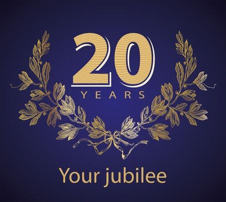 Jubilee, golden laurel wreath 10 years