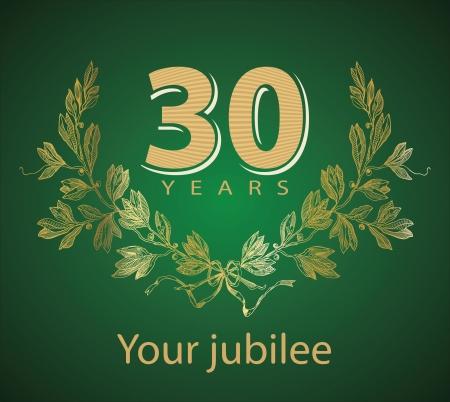 awards ceremony: Jubilee, golden laurel wreath 30 years  Illustration