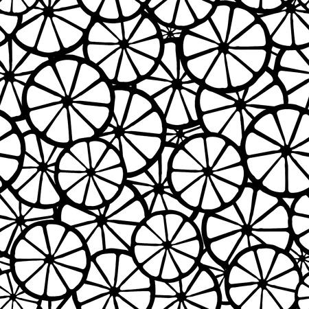 lemon b&w pattern  Illustration