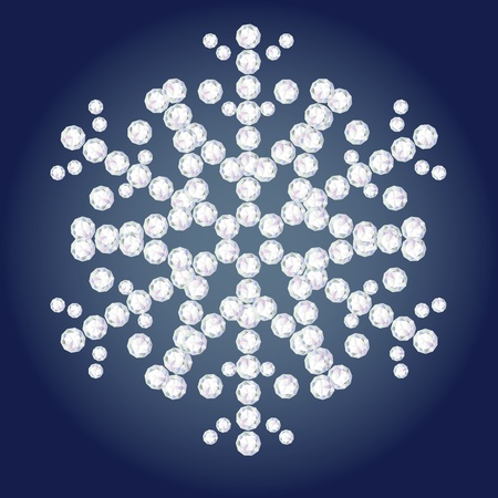 diamond flake  Illustration