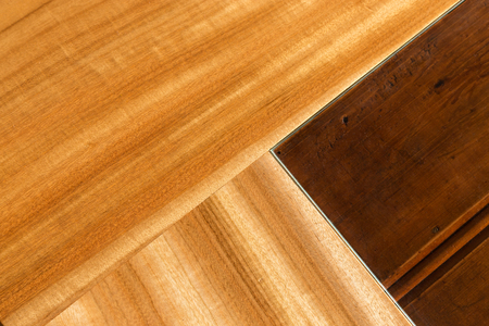 Close up of timber woodgrain and glass joinery design of a modern piece of home furniture. 版權商用圖片