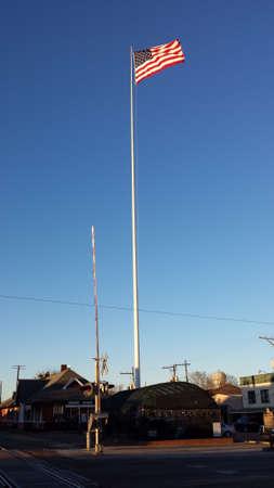 orleans parish: USA Flag Flying High