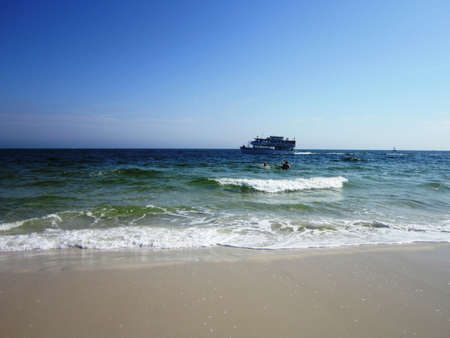shores: A beautiful day at the beach - Gulf Shores, Alabama Stock Photo