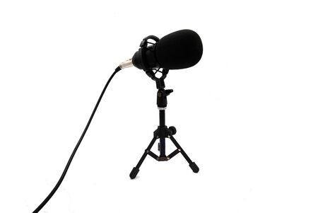 Podcast or broadcast microphone isolated