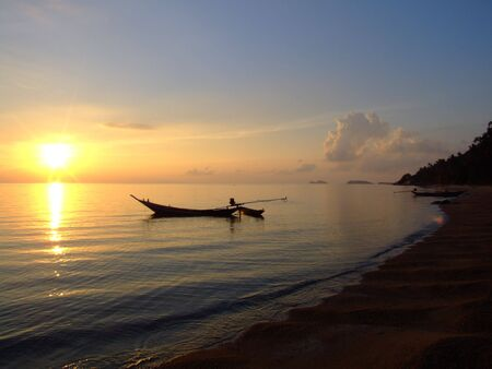 Sunset, Koh Phangan, Thailand. photo