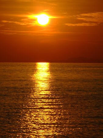 koh: Puesta de sol, Koh Phangan Tailandia.