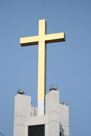 Church cross, Thailand. Stock Photo - 7423341