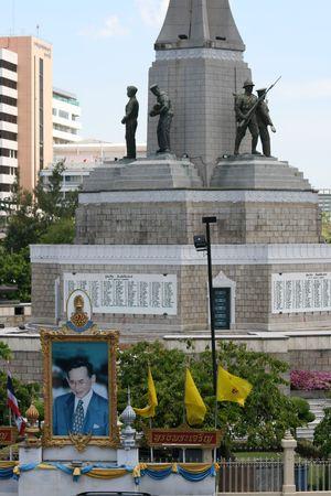 BANGKOK, THAILAND - JUNE 25: Victory monument in central Bangkok on June 25, 2010 in Bangkok.