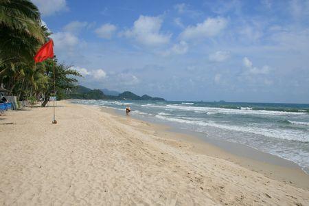Tropical beach, Koh Chang, Thailand. photo