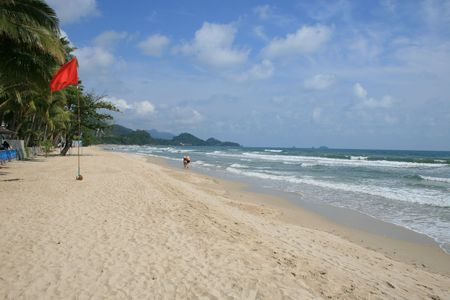 chang: Tropical beach, Koh Chang, Thailand. Stock Photo