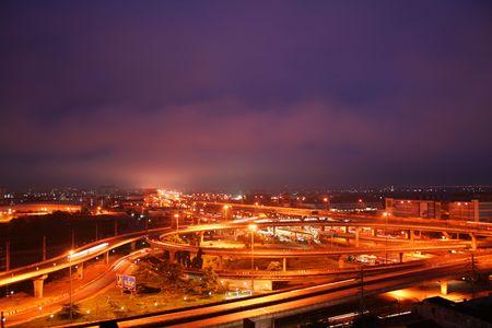 Motorway at night, Thailand. Stock Photo - 7986968