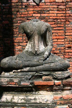 Buddha statue, Ayutthaya,  Thailand. Stock Photo - 7986805