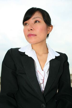 Asian business woman outdoors in Thailand. Stock Photo - 8026248