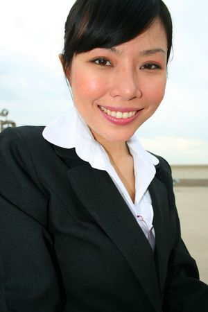 Asian business woman outdoors in Thailand. Stock Photo - 8026249