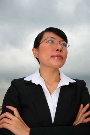 Asian business woman outdoors in Thailand. Stock Photo - 8164988